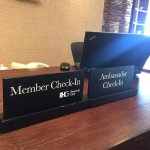 exclusive check-in counter
