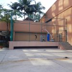 basketball court near the gym (same level as pool area)