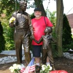 Andy Griffith and Opie going fishing statue