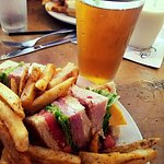 Club sandwich with a great local craft brew - yes, please!