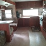 The inside of our trailer. Plenty of room. Everything neat and clean.