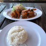 Good food. Spiced Prawns and rice. Decent taste. Service was excellent. Shaed was welcoming and