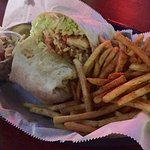 The Chicken Tornado Wrap and Seasoned Fries
