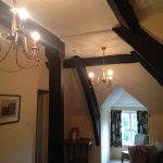 Lovely old beams. Sloping floors.