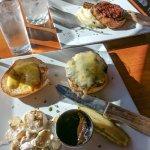 Housemade burger & Pork Chop