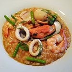 Risotto with mixed seafood