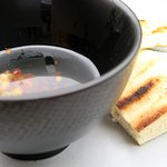 Grilled Chapa Bread, Roast garlic, Chilli oil