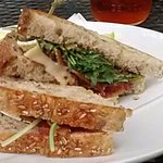 Bacon and Brie (with arugula and fig jam)