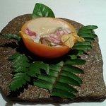Ceviche de lulo con ostras y pisco sour (como sorbete nitrogenado)