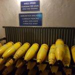 Ammunition store (replica shells)
