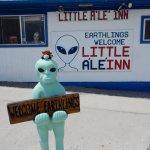 A great burger in the little A`le` Inn, Rachel, Nevada