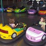 Kid-sized bumper cars! A+!