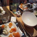 Entrées saumon fumé ; crevettes