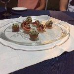 Decorated Shrimp and Basket of Rabbit Salad