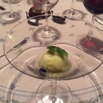 Avocado sorbet with its iced Tequila