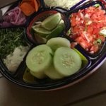 You get this along with a variety of salsa and guacamole with every order.
