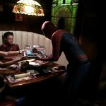 Spidey Serving Birthday Cake To our Son !!!