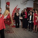 Fund raising for Montreal Heart Desease Fundation at Galerie Blanche Montreal in 2016