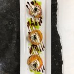 Peach from Dry Creek with Burrata & Pearls of Balsamic