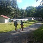 Oakland Valley Campground - Walking towards inground pool and office