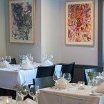 Tasteful decor with modern artwork