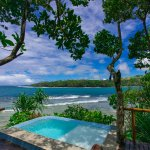 All Honeymoon Bures feature private heated plunge pools with ocean views