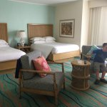 This is the larger standard room (upgrade)