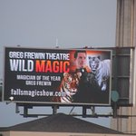 An advertisement about Greg Frewin