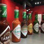 It is fun to take photos of giant Tabasco bottles.