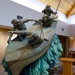 An impressive statue in the museum depicting one of Powell's boats.