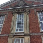Bosworth Hall main entrance, gates, fireplace, front door and details.