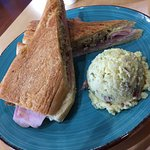 """The best"" cuban sandwich 8"" with side of potato salad"