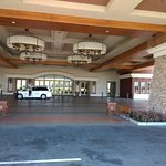 Thunder Valley Hotel enterance- has valet parking and airport shuttle.