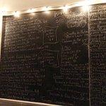 The daily chalkboard menu
