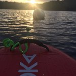 Sunrise with SUP moored up :)