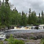 Fjätfallet waterfall, about 25 min from Knappgården