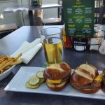 Sliders, Fries and a beer
