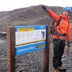 Our guide, Rob, preparing us for our glacier walk