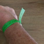 Tacky waterpark-like wristbands
