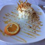 Macaroon semifreddo dessert