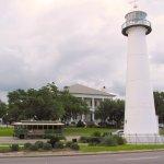 Biloxi Lighthouse w/ Biloxi Visitors Center in background