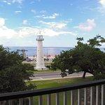 Biloxi Lighthouse from Biloxi Visitors Center upper balcony