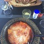 Salade de poulpes et sèches et ravioles au fromage de brebis