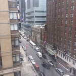 View out our window of 49th Street -A Bronx Tale is across the street