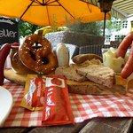 Bayerisches Würschtelbrett. Bavarian sausages plate
