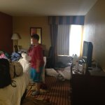 Another pic of our room it looks big but it's not.