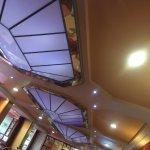 Ceiling light in restaurant