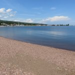 Beach looking toward downtown Grand Marais.