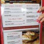 More menu at Weck's