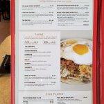 Breakfast menu at Weck's